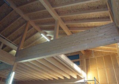 Holzbau Gewerbegebiet Ohlstadt Innenansicht