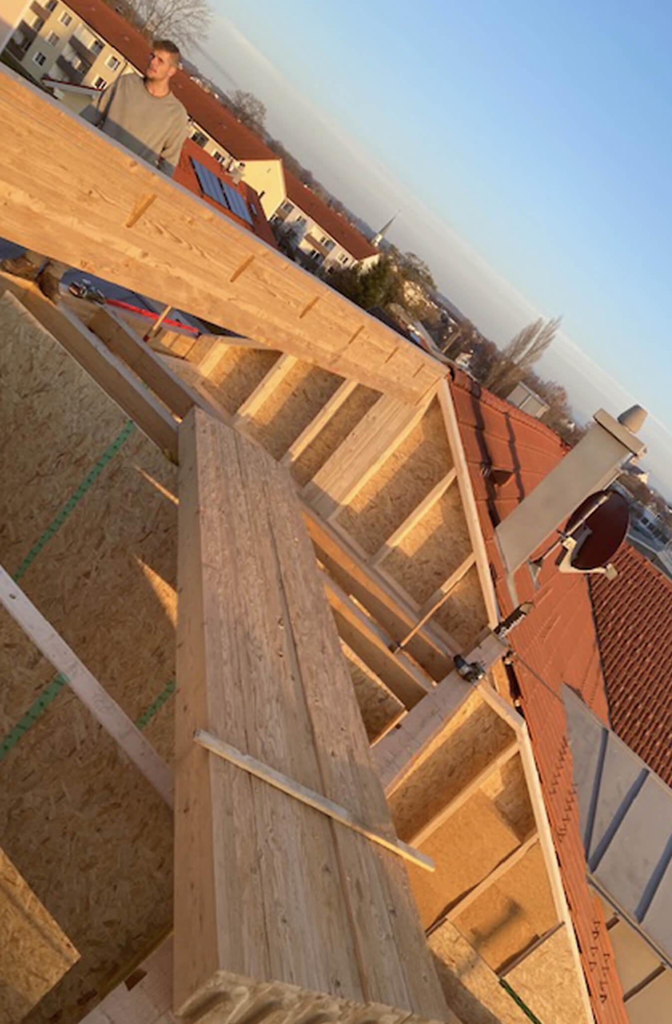 Holzbau Hoiss Baustelle