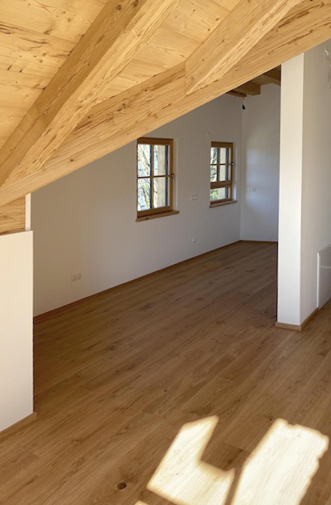 Holzbau Hoiss Dachgeschoss Ausbau